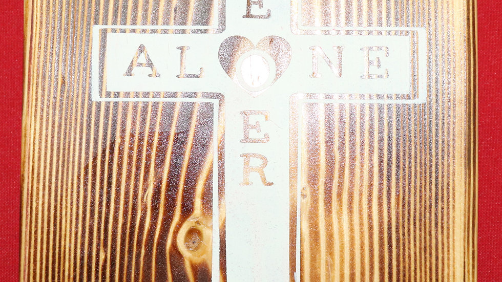 Wood Plank (Small Traditional Cross) You Are N/A Love Mom