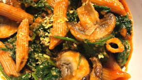 Recipe: Gluten Free Penne w/Spinach and Mushrooms