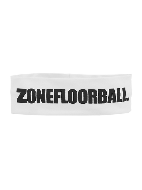 Zone LOGO HUGE Wide Headband white