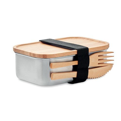 Lunchbox EDELSTAHL/BAMBUS
