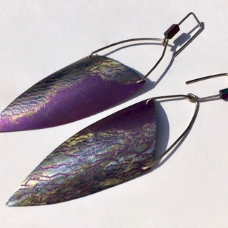 Anodized Texture Earrings