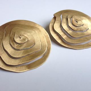 Bronze Spiral Earrings