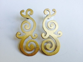Bronze Scroll Earrings