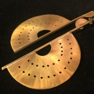 Bronze Pierced Disc Earrings