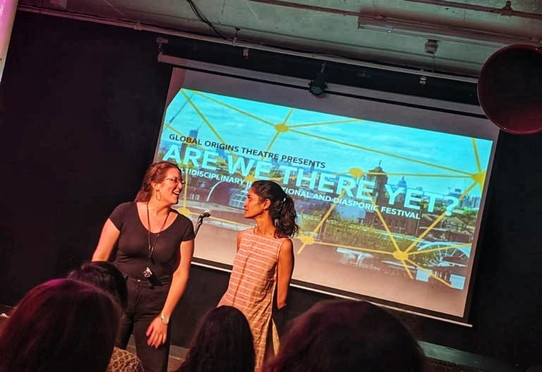 Emma Jude Harris and Aneesha Srinivasan hosting Are We There Yet?