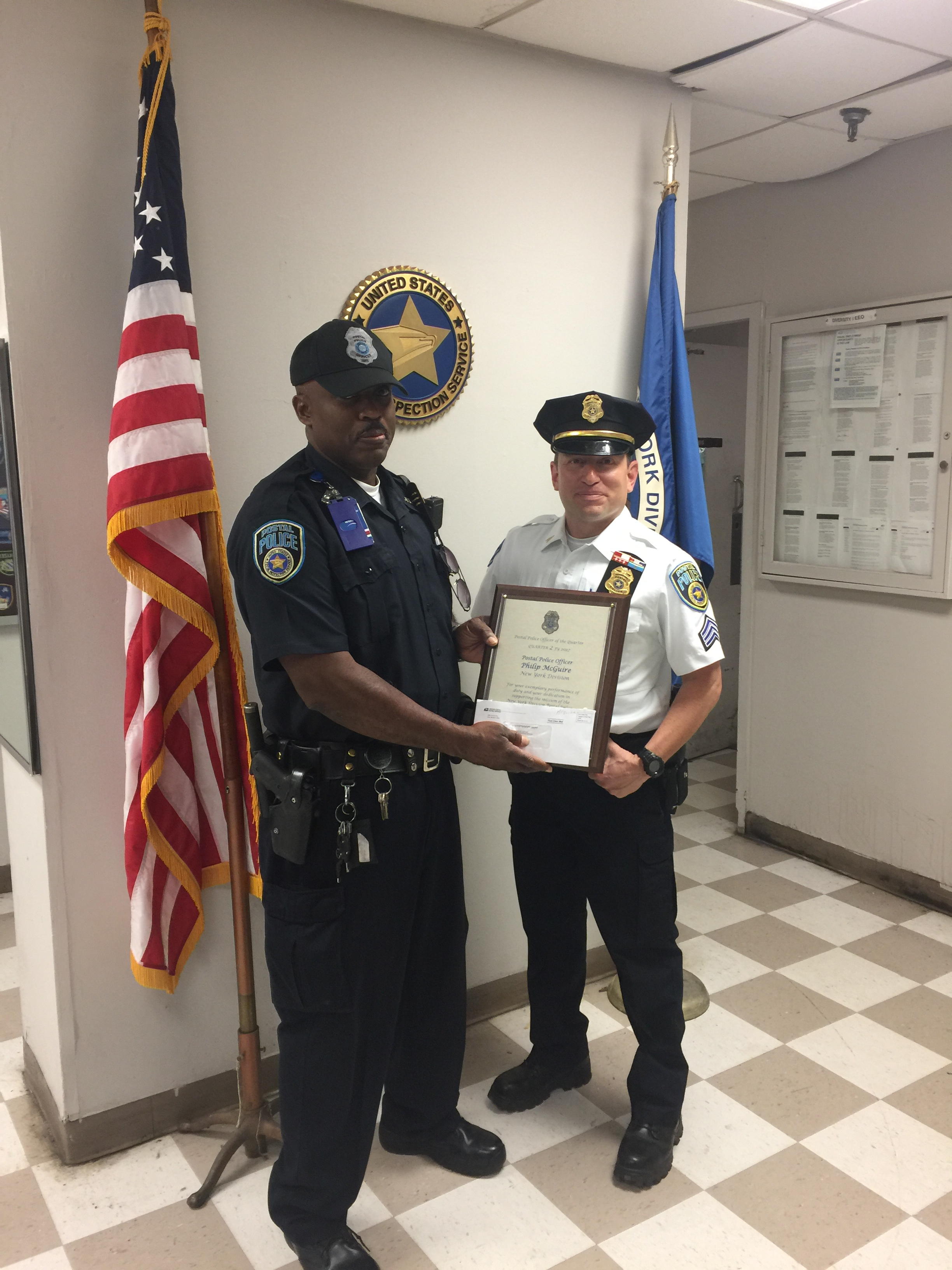 Officer McGuire receives award!