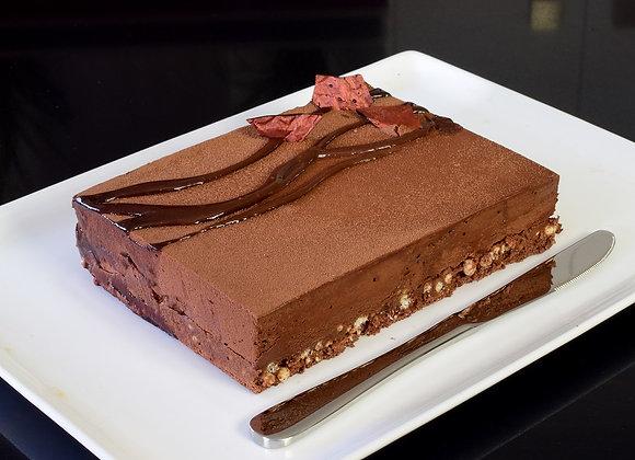 """Rocher Dark Choc Hazelnut Mousse Cake 6x8"""" (M)"""
