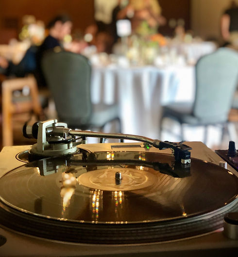 DJ turntable setup at Jasper Park Lodge