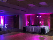 uplighting for the Dj booth
