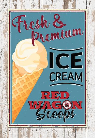 Red Wagon Farm Scoops IceCream. MistyGordonCreative.com