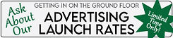 Advertising Launch Rates Banner