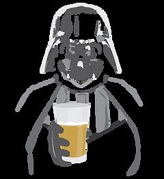 Darth Vader, Beer Illustration. MistyGordonCreative.com