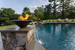 Fire Bowl with Water Feature
