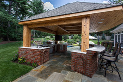 Outdoor Kitchen with Roof