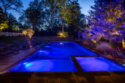 Night Lighting and Integrated Spa