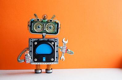Robot handyman with hand wrench light bu
