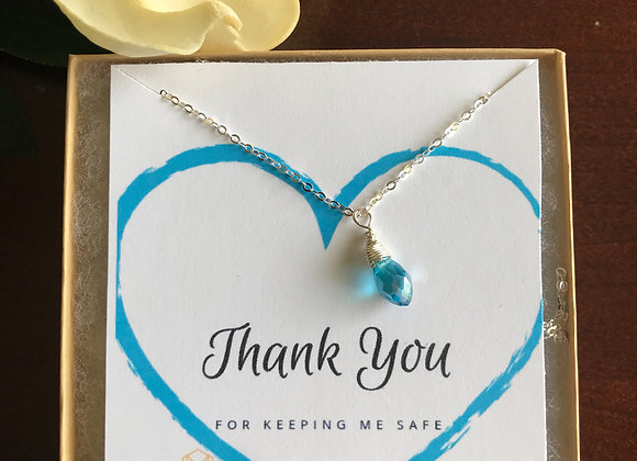 Allergy Awareness Teal Necklace