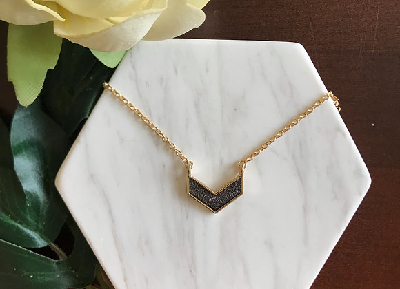 Veronica Chevron Pendant Necklace