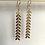 Thumbnail: Ciara Chevron Drop Earrings