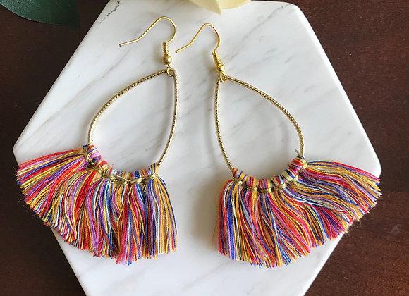 Maria Teardrop Tassel Earrings