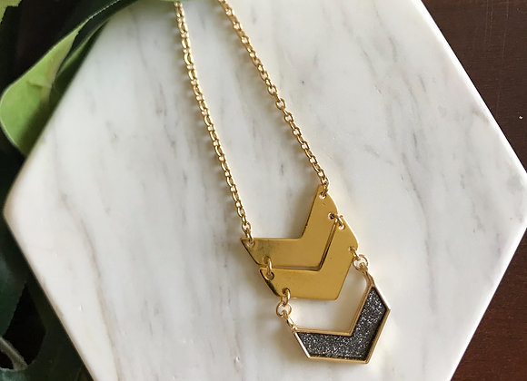 Dahlia Chevron Necklace