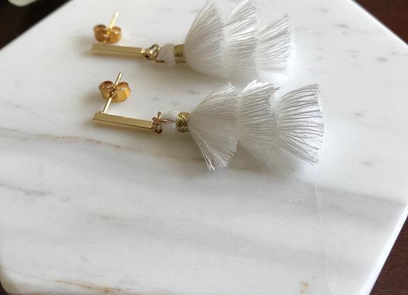 Sophia Tiered Tassel Stud Drop Earrings