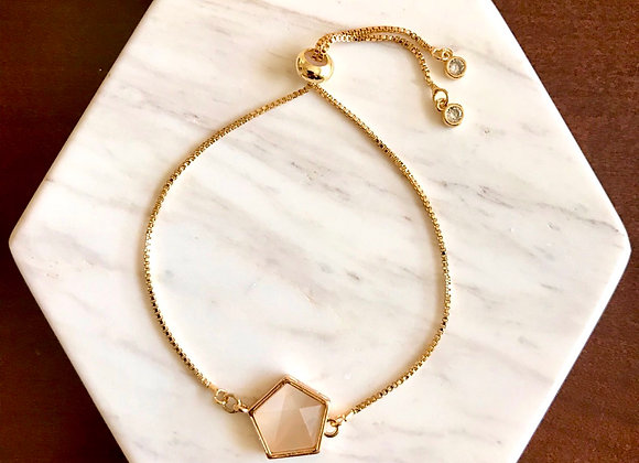 Rose Shell Geometric Bracelet