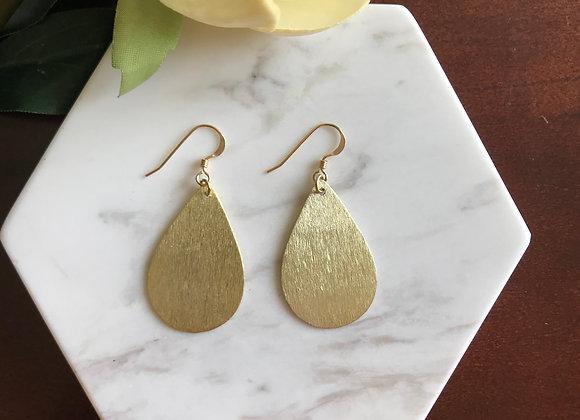 Harper Brushed Gold Teardrop Earrings