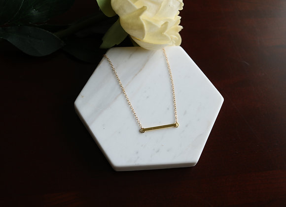 Chloe Gold Bar Necklace