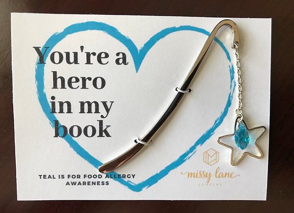 Teal Collection Bookmark