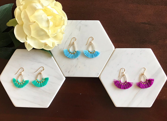 Gabriela Fan Tassel Earrings