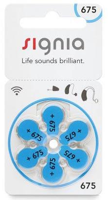 Батарейки к слуховым аппаратам | №675 Signia  | 1 блистер (6 шт.)