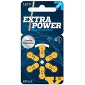 Батарейки до слухових апаратів   №10 ExtraPower   1 блістер (6 шт.)