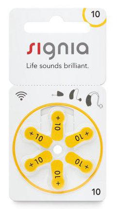 Батарейки к слуховым аппаратам | №10 Signia (Siemens)  |  1 блистер (6 шт.)