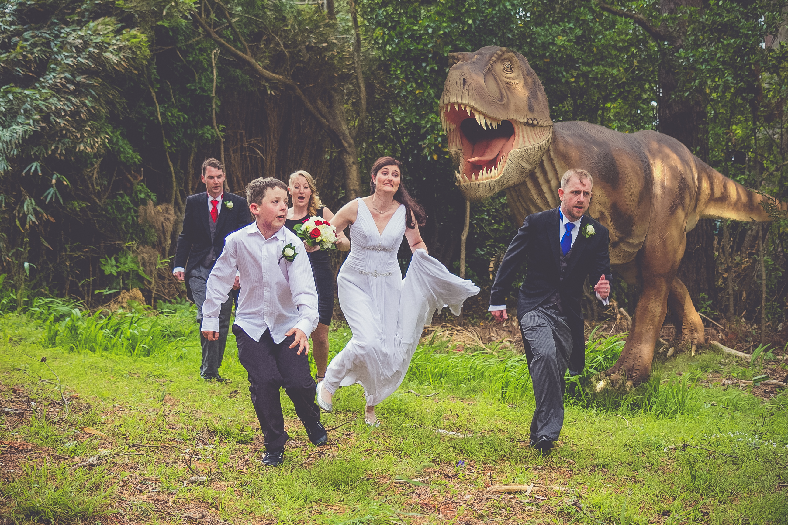 T Rex attacks!