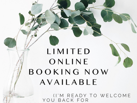Online Booking Now Available!