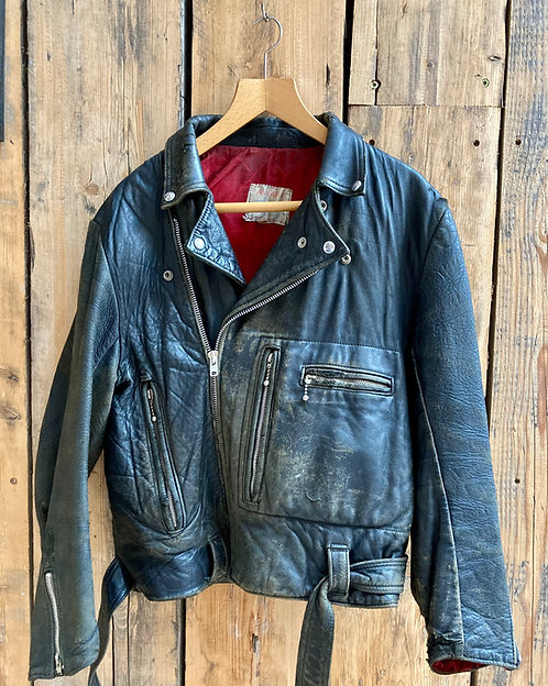 Lewis Leathers Aviakit Bronx Black Biker Jacket