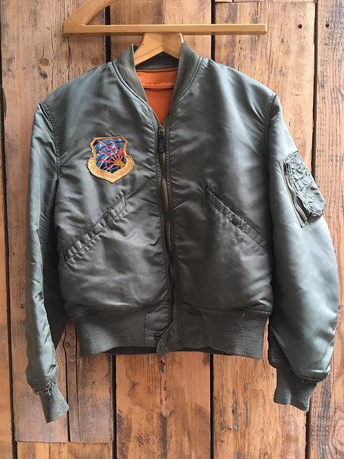 USAF L2b Alpha Industries Vintage Rayon Flight Jacket 1960's