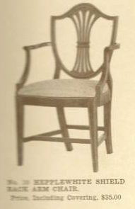 B13023 Hepplewhite Shield Back Side Chair