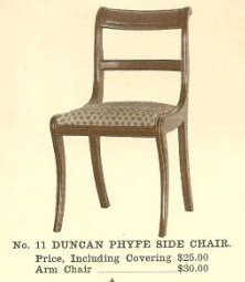 B13032 Duncan Phyfe Side Chair w-Arms