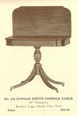 B13093 Duncan Phyfe Console Table ~ Brass Claw Fee