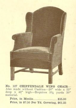 B13063 Chippendale Wing Chair ~ No Upholstery