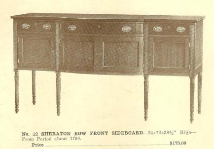 GFS- A13038 Sheraton Bow Front Sideboard