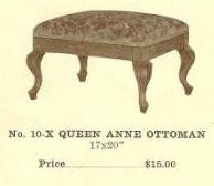 GFS- C13073 Queen Anne Ottoman