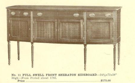 A13027 Full Swell Front Sheraton Sideboard