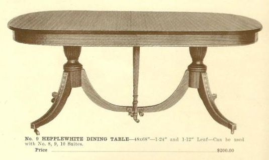 GFS- A13009 Hepplewhite Dining Table