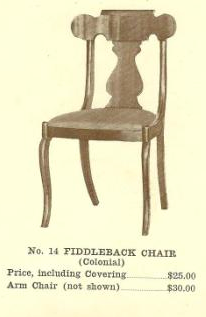 B13120 Fiddleback Chair w-Arms