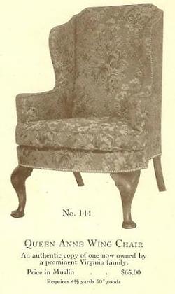 B13196 Queen Anne Wing Chair