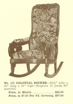 B13060 Colonial Rocker ~ No Upholstery