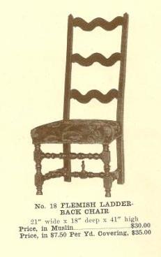 B13113 Flemish Ladder-Back Chair